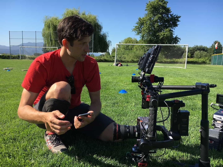 Nike Video Shoot - Camera man on soccer field