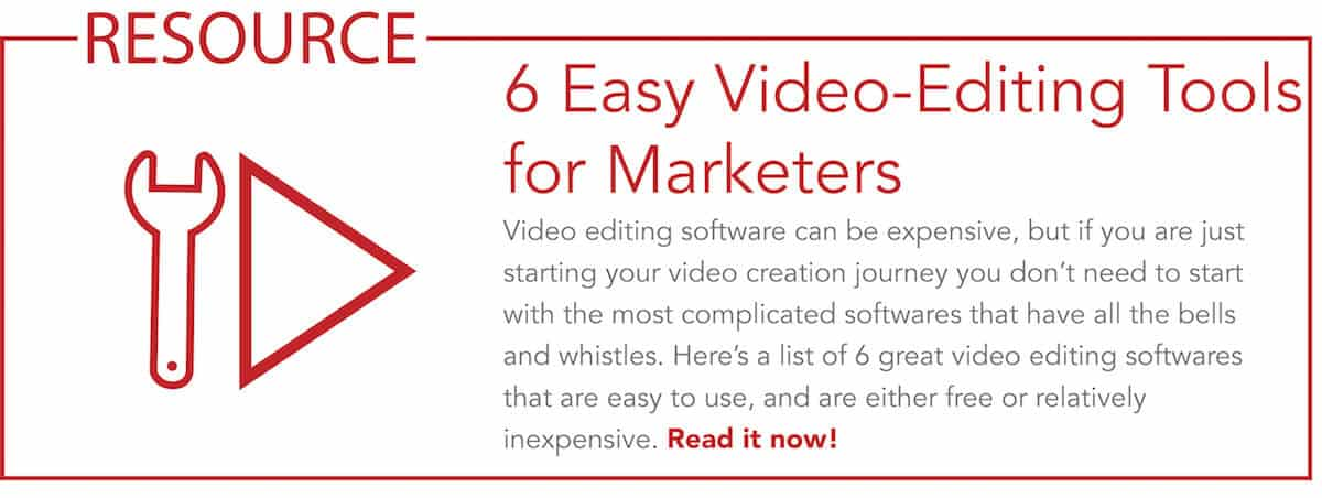 Link to 6 video tools for marketers blog