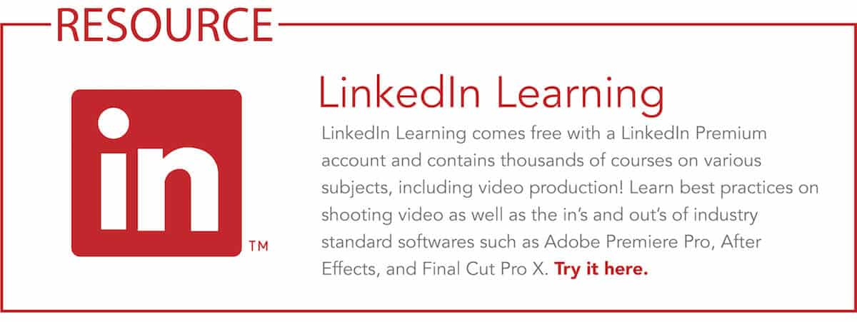 Description and link to try LinkedIn Learning
