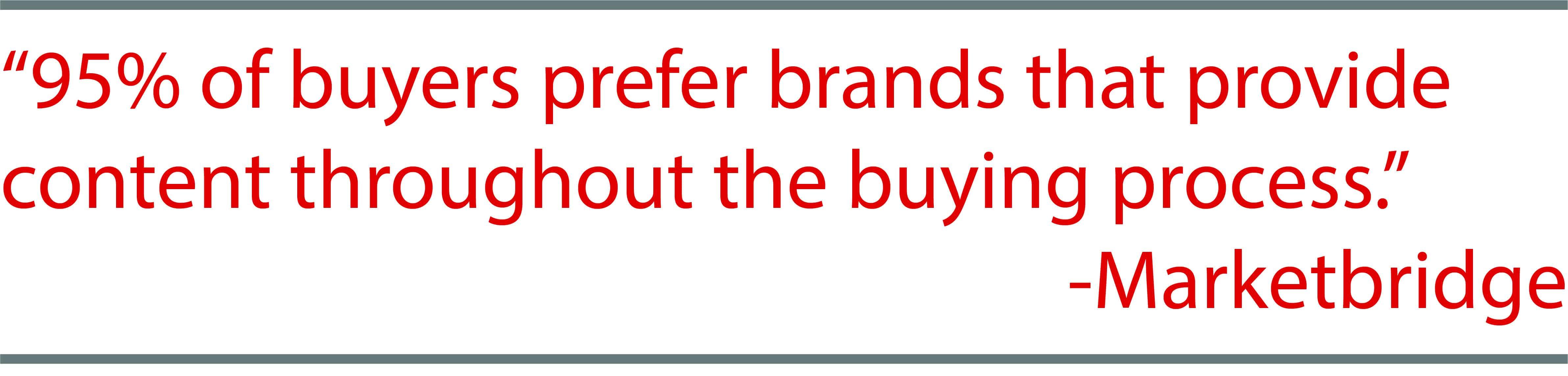 Marketbridge quote about effective content