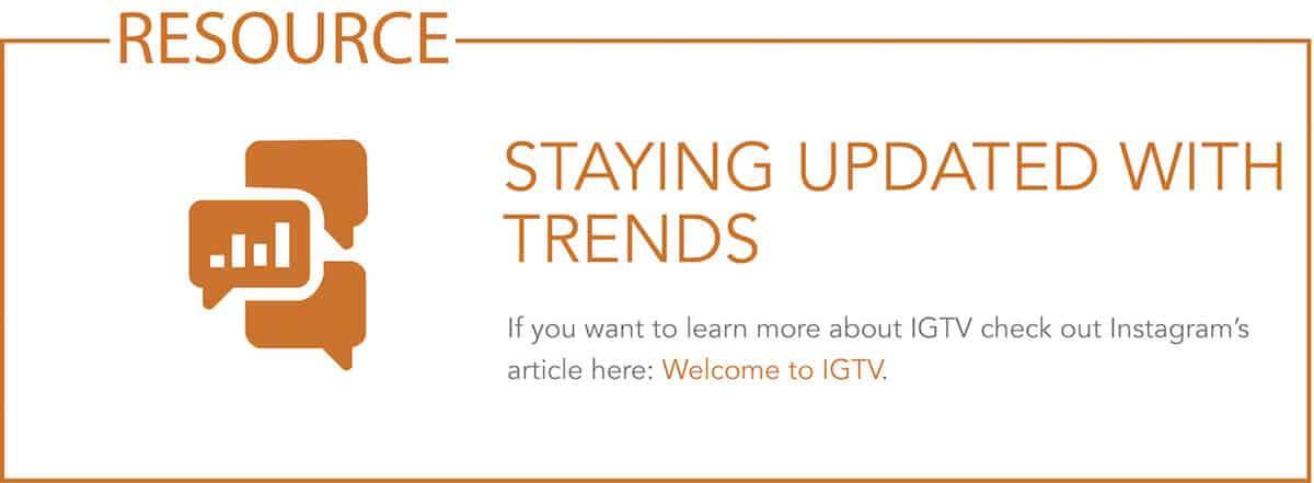 Resource - link to IGTV blog