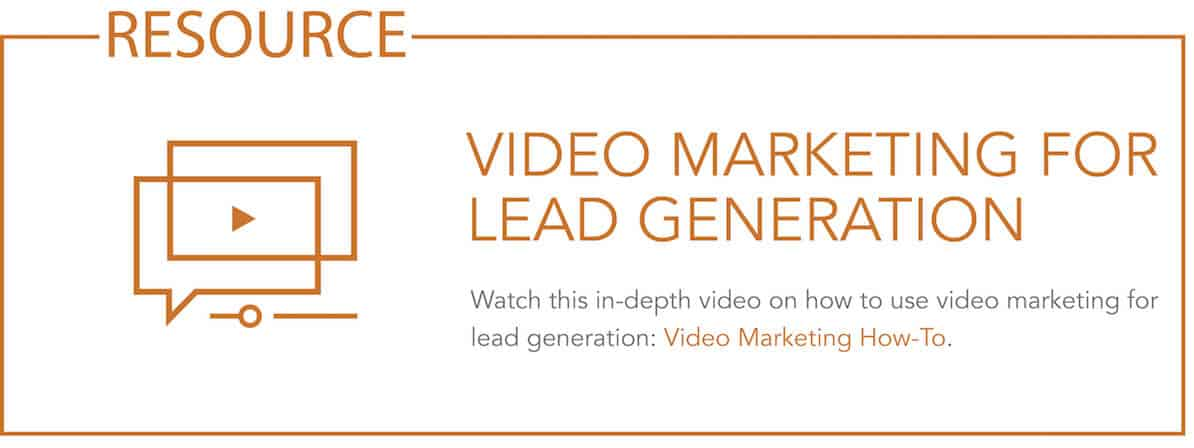 Resource - link to lead generation video